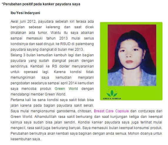 Harga Asli Breast Care Capsule Green World