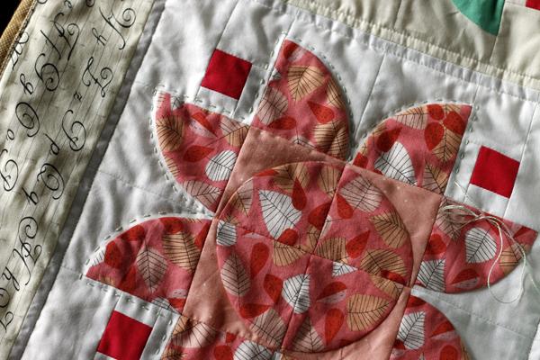 Lotus Quilt - hand quilting