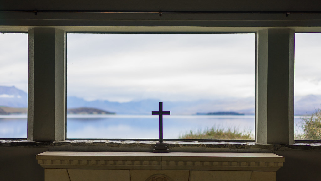 Inside Good shepherd church, Lake Tekapo