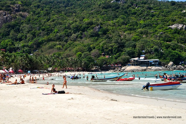 Busy Haad Rin Beach Koh Phangan