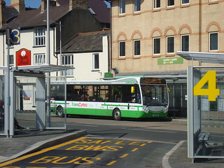TrawsCymru T5 Optare MetroCity bus in Aberystwyth