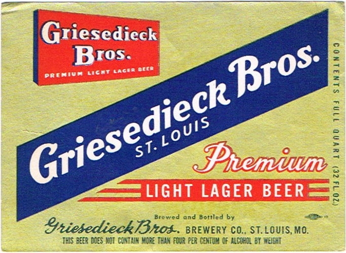 Griesedieck-Bros-Premium-Beer-Labels-Griesedieck-Bros-Brewing-Co--Post-Prohibition