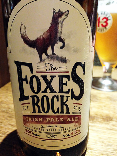 Foxes Rock Beer at O' Conners Pub in Ballycastle, Ireland, UK