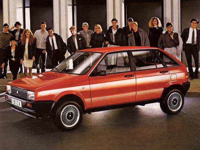 Пятидверный хэтчбек SEAT Ibiza I. 1984 - 1991 годы