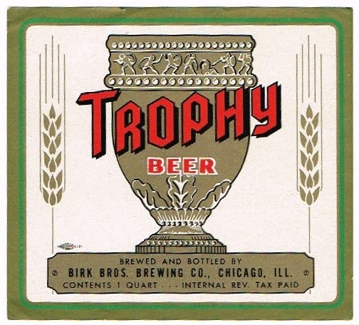 Trophy--Beer-Labels-Birk-Bros-Brewing-Company