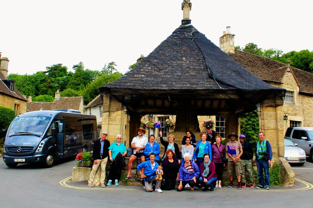 Tour Group at Castle Combe, England