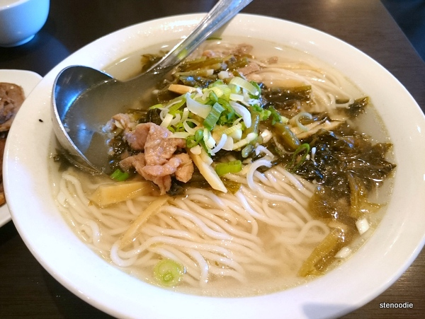 Shredded Pork, Pickled Cabbage & Noodles in Soup
