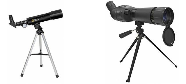telescopio terrestre y astronomico