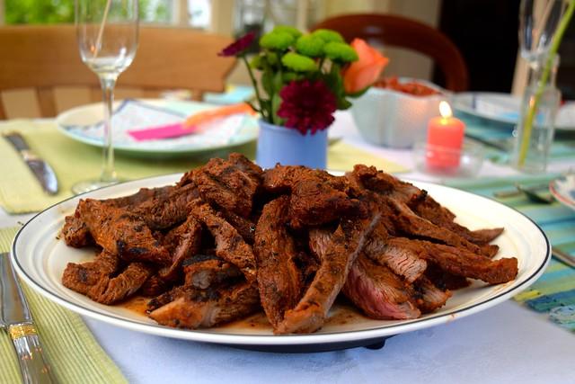 Barbecued Fajita Steak | www.rachelphipps.com @rachelphipps