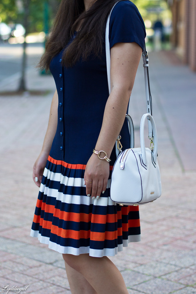 vintage navy striped dress, cherry pumps, white bag-4.jpg