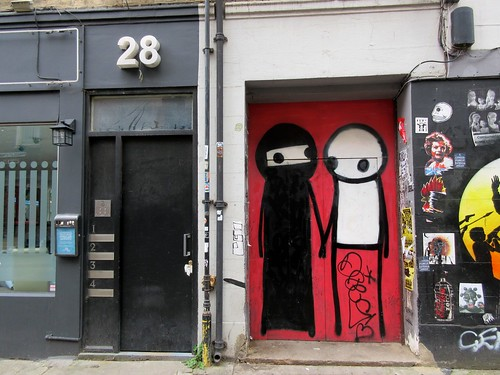 Stik Street Art Near Brick Lane Mosque