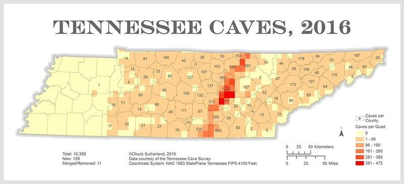 Tennessee Cave Distribution, 2016