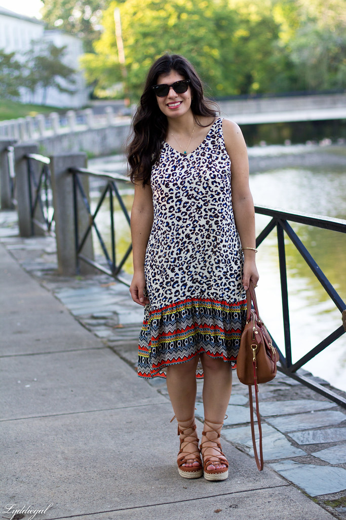 cabi leopard dress, zaful lace up sandals, tahari bag-2.jpg