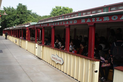 Loading the carriages at Main Street station on the Hong Kong Disneyland Railroad