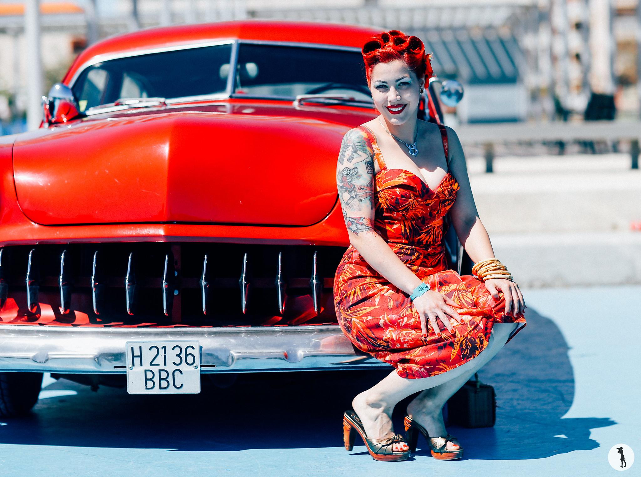 Riverside Car Show 2016, Calafell, Spain. Pin-up. Rockabilly.