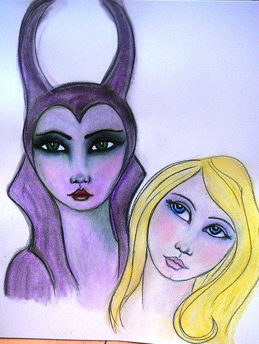 sketchercise for Maleficent and Beauty