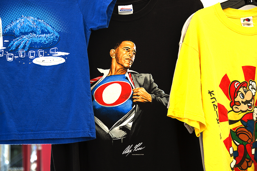 Obama as superhero--Ann Arbor