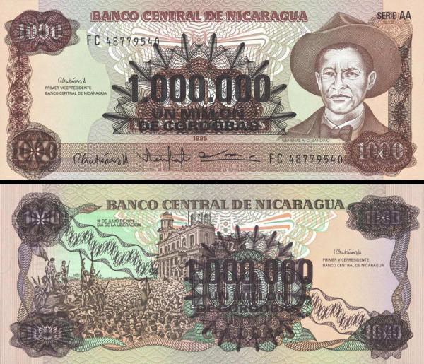 1 000 000 Cordobas Nikaragua 1985, P164