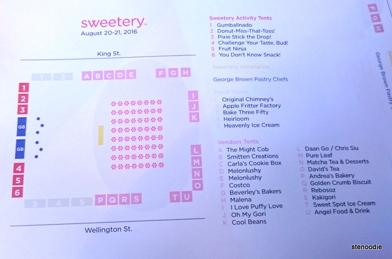 Sweetery Festival 2016 site map