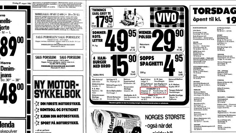 hadde mange butikker med fulgte tilbudene til vivo kjeden