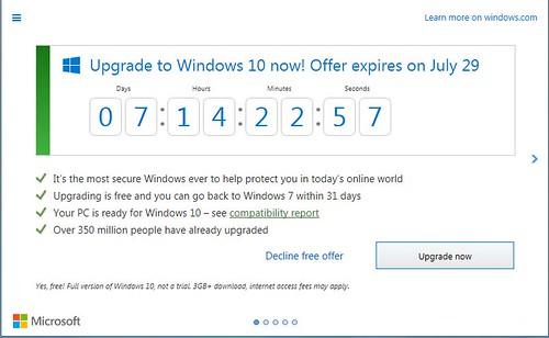 Windows 10 nag