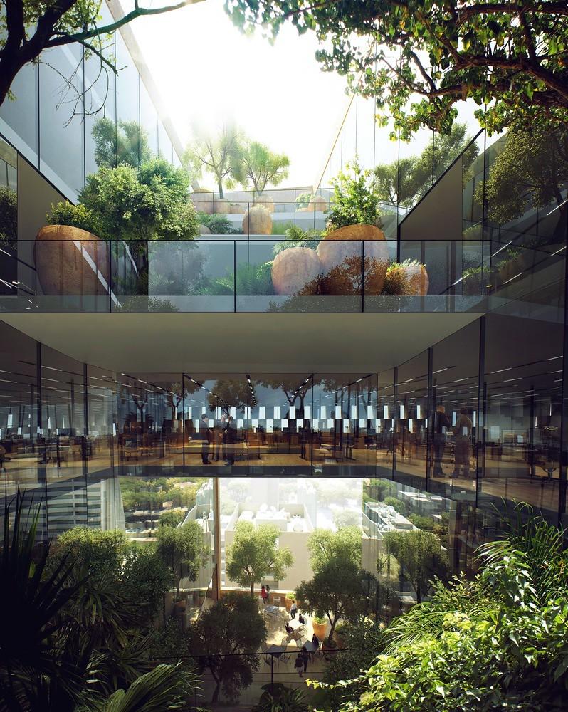 Башня с ботаническим садом банка BLF в Бейруте