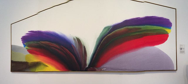 "Panorama of 'Phenomena Royal Violet Visitation"" by Paul Jenkins (1923-2012)"
