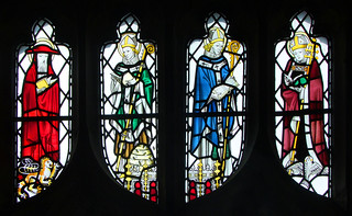 Four Latin Doctors: St Jerome, St Ambrose, St Gregory and St Augustine (Powell & Sons, 1930s)