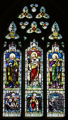 Christ the Good Shepherd flanked by St Peter and St Paul (Hardman & Co, 1924)