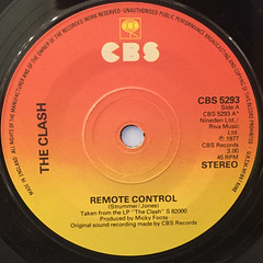 THE CLASH:REMOTE CONTROL(LABEL SIDE-A)
