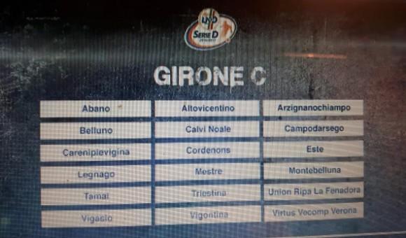 Resi noti i gironi di serie D: Virtus Verona nel raggruppamento C!