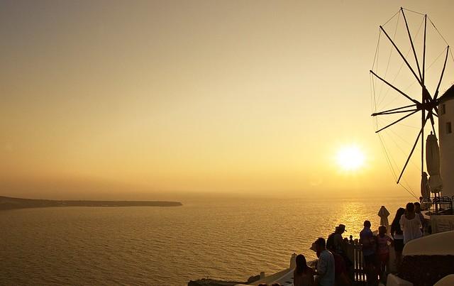 Stunning sunsets in Santorini