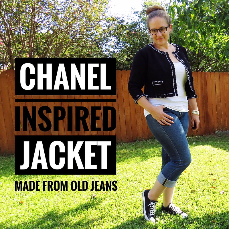Denim Chanel-Inspired Jacket - After