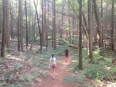 Kathryn and Sophie on the Dockery Lake Trail