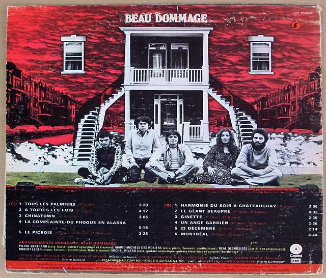 """BEAU DOMMAGE S/T SELF-TITLED 12"""" LP VINYL"""