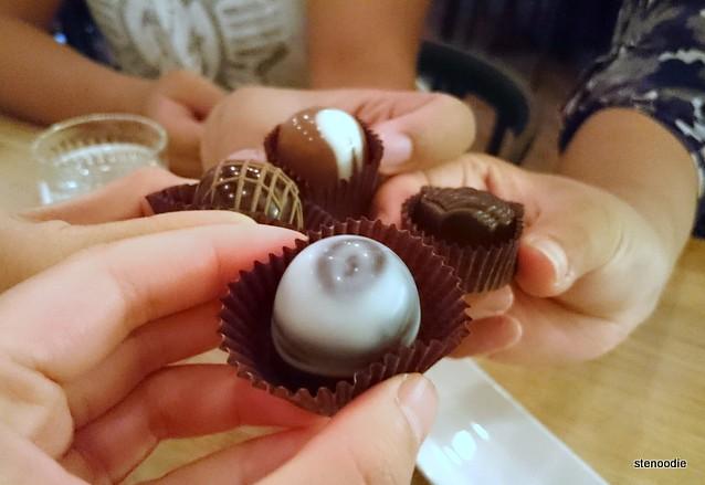 Chocolate truffles cheers