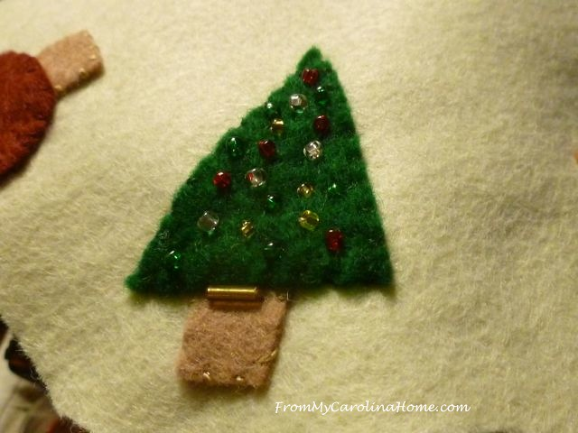 Christmas Wool Applique Penny Rug ~ From My Carolina Home