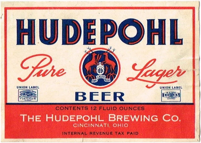 Hudepohl-Pure-Lager-Beer-Labels-Hudepohl-Brewing-Company-Plant-1--Aka-of-Hudepohl-Brewing-Co