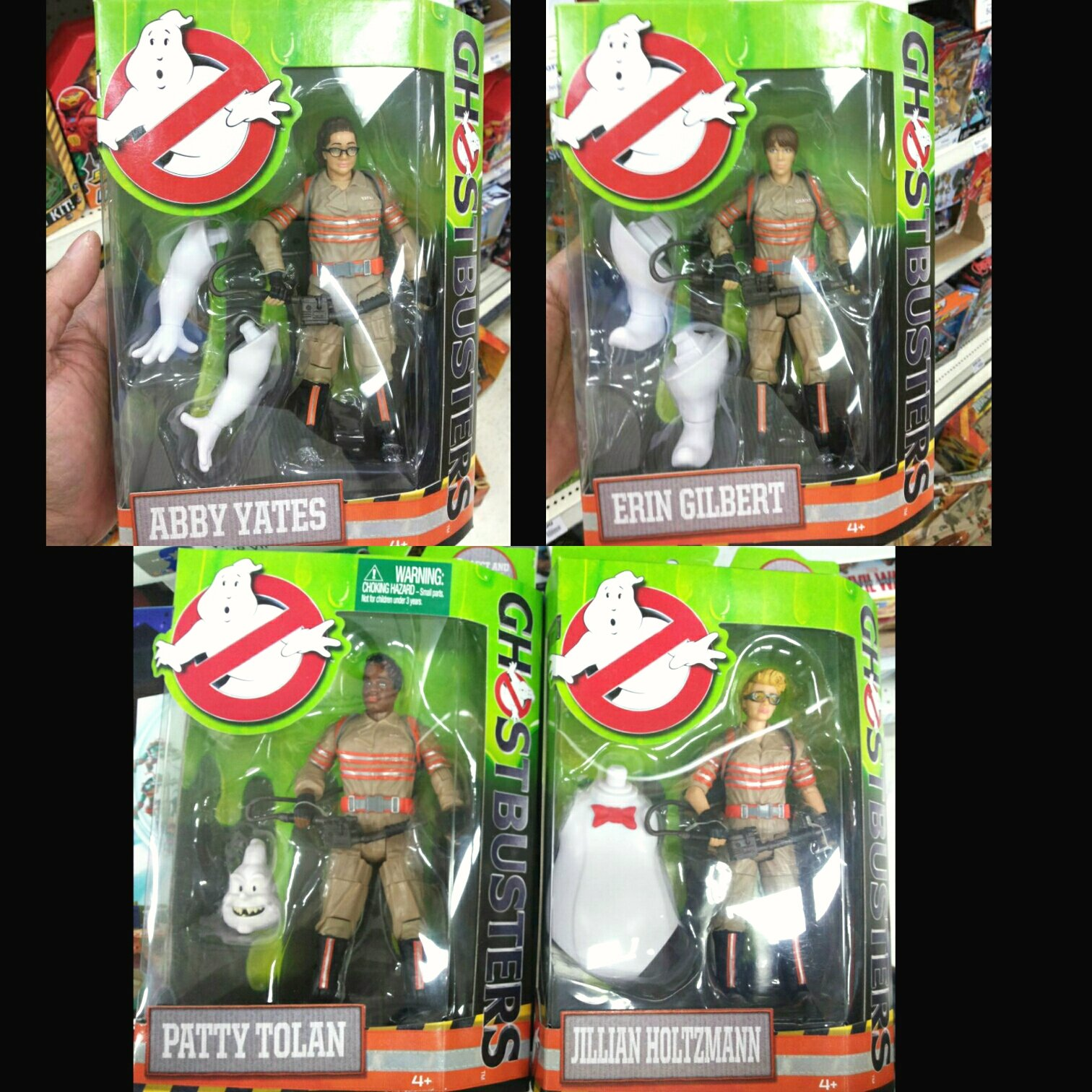 "Mattel 6"" Ghostbusters 2016 action figures"