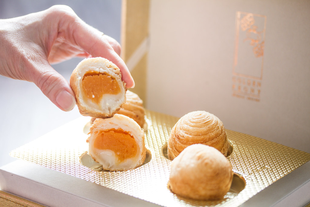 Conrad Centennial Mooncake: Sweet Potato Mooncake in Crispy Filo Pastry