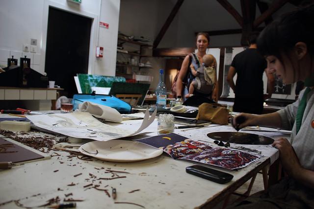 Atelier gravure - L'Enfer Festival 2016