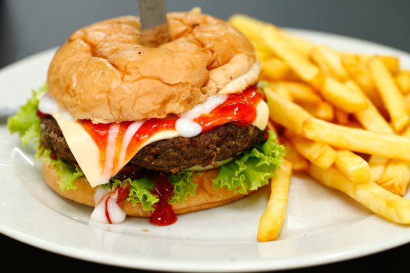 Burger Bakar with Cheese