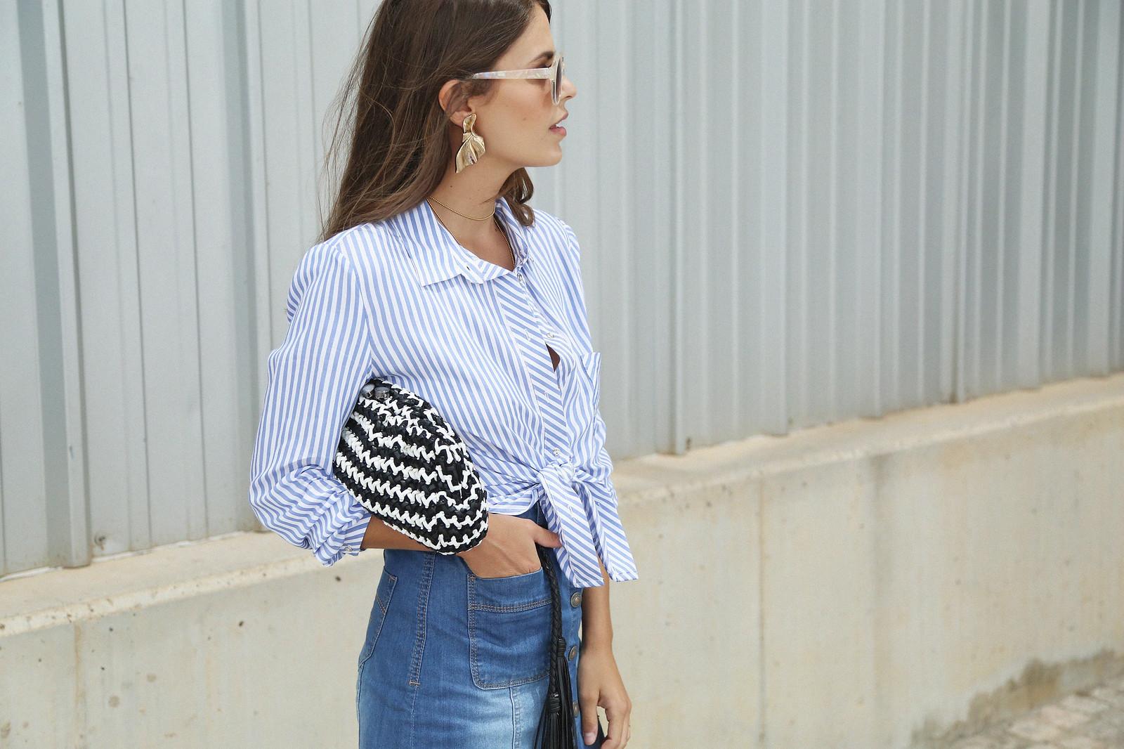 jessie chanes seams for a desire denim skirt stripes shirt-6