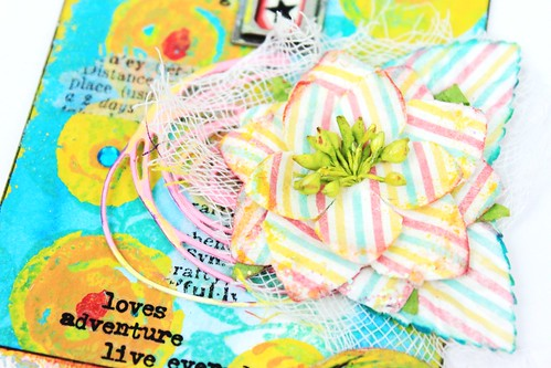 Meihsia Liu Simply paper Crafts Mixed Media Tag Celebrate Simon Says Stamp Monday Challenge 4
