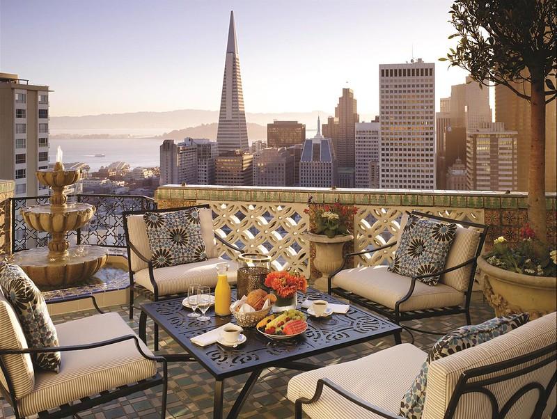 Fresh Penthouse Suite Balcony View at The Fairmont San Francisco