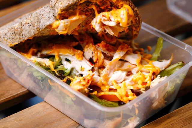 Cheese Grilled Chicken Open Sandwich