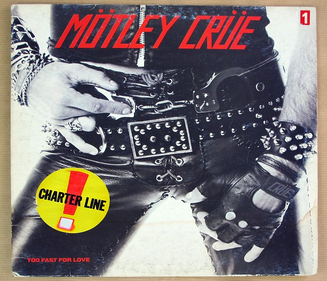 "MÖTLEY CRÜE TOO FAST FOR LOVE ITALY 12"" LP VINYL"