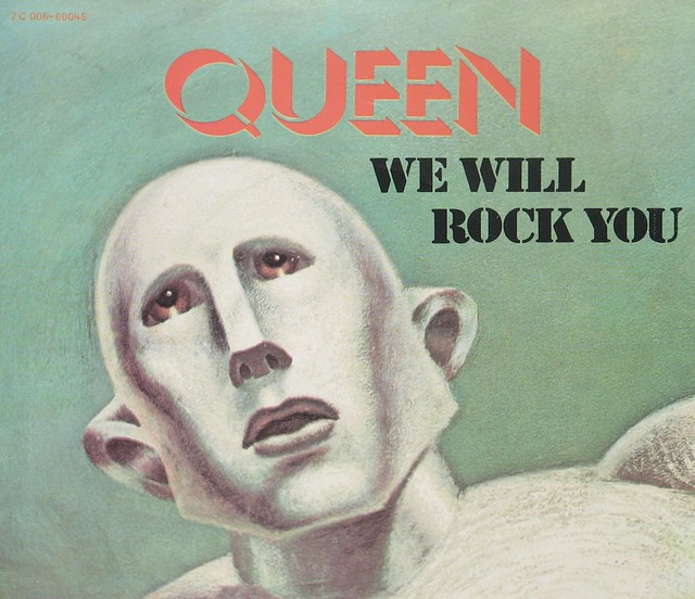 """QUEEN WE WILL ROCK YOU 7"""" PS Single"""