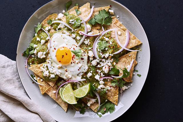 Grain-Free Chilaquiles with Salsa Verde {Paleo-friendly}