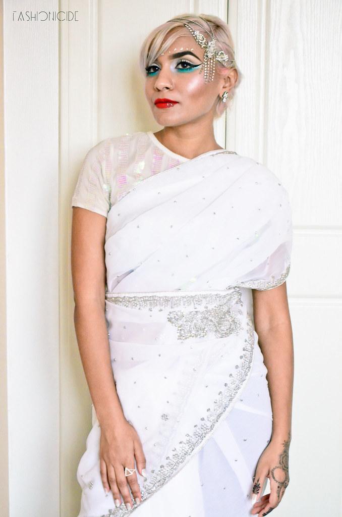 White Silver Sari Eid 5_